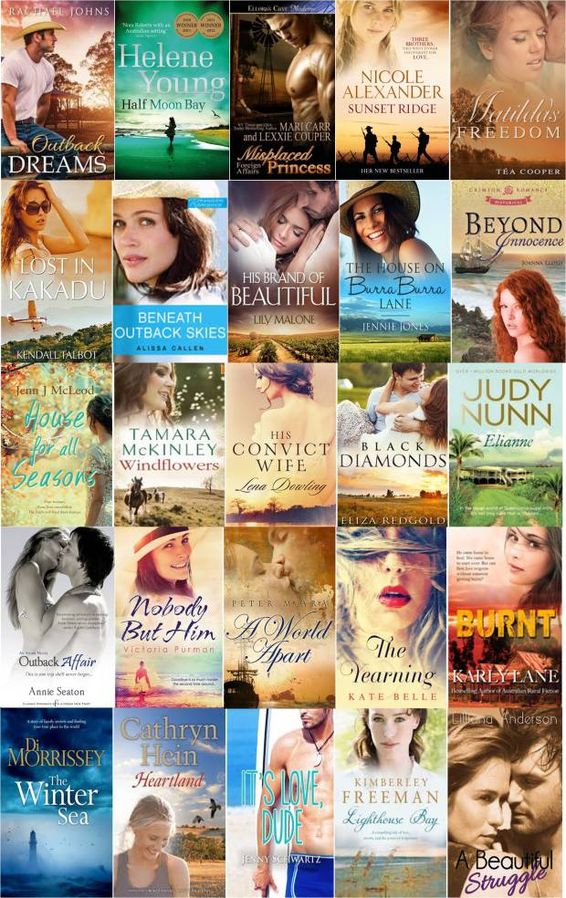 My top 25 fave romance novels set in Australia