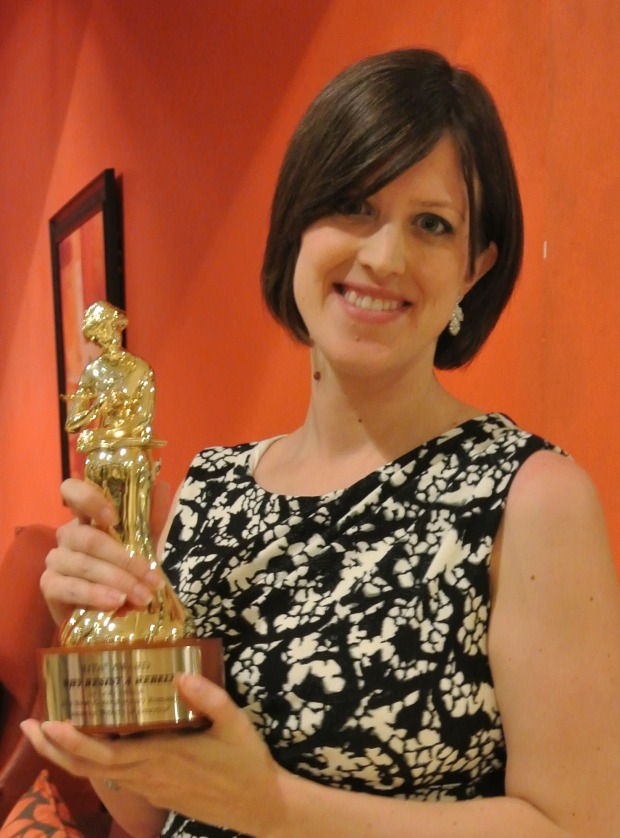 Leah Ashton with her RITA award