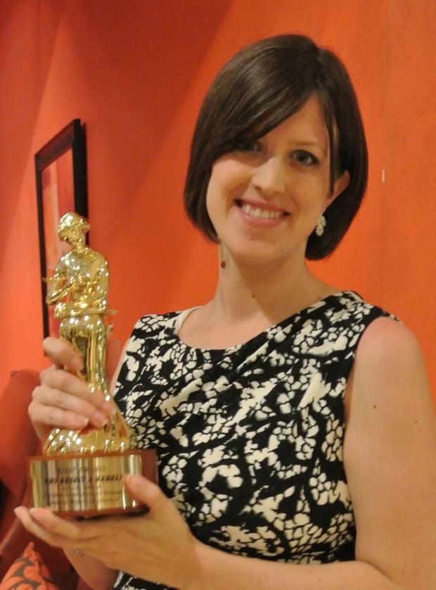 Leah Ashton with her RITA award