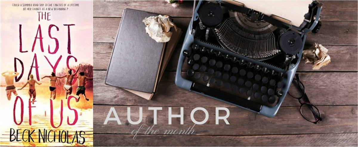 Author of the Month featuring Beck Nicholas